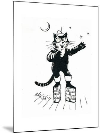 Puss in (Brick-Wall Platform) Boots-George Adamson-Mounted Giclee Print