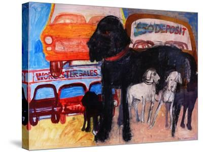 Dog at the Used Car Lot, Rex-Brenda Brin Booker-Stretched Canvas Print