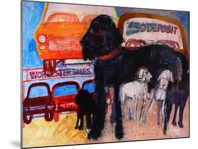 Dog at the Used Car Lot, Rex-Brenda Brin Booker-Mounted Giclee Print
