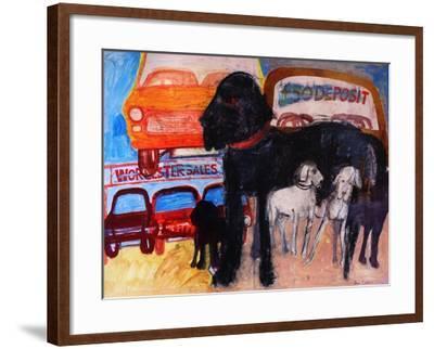 Dog at the Used Car Lot, Rex-Brenda Brin Booker-Framed Giclee Print