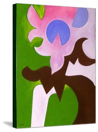 Green-Brown-Rose, 2009-Jan Groneberg-Stretched Canvas Print