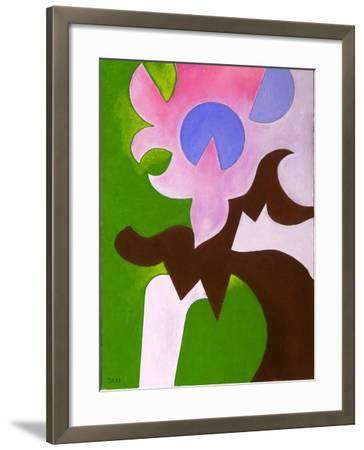 Green-Brown-Rose, 2009-Jan Groneberg-Framed Giclee Print
