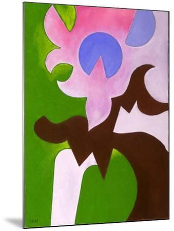 Green-Brown-Rose, 2009-Jan Groneberg-Mounted Giclee Print