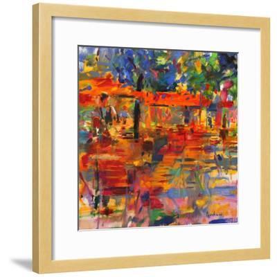 Falling Leaves, Paris-Peter Graham-Framed Premium Giclee Print