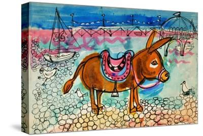 Donkey-Brenda Brin Booker-Stretched Canvas Print