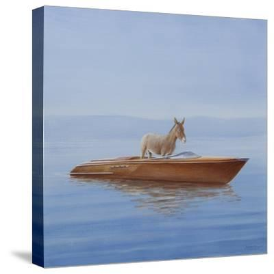 Donkey in a Riva, 2010-Lincoln Seligman-Stretched Canvas Print