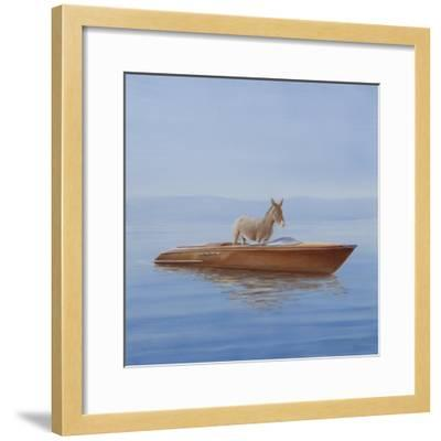 Donkey in a Riva, 2010-Lincoln Seligman-Framed Giclee Print