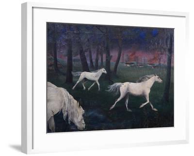 Fire, Panic, Wild Horses, 1947-Bettina Shaw-Lawrence-Framed Giclee Print