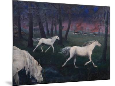Fire, Panic, Wild Horses, 1947-Bettina Shaw-Lawrence-Mounted Giclee Print