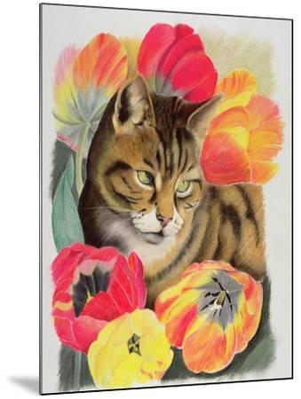 Stripy and Tulip-Anne Robinson-Mounted Giclee Print