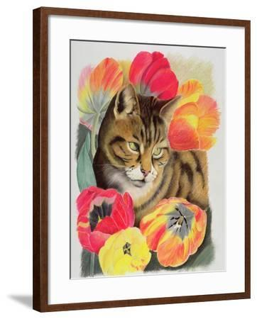 Stripy and Tulip-Anne Robinson-Framed Giclee Print