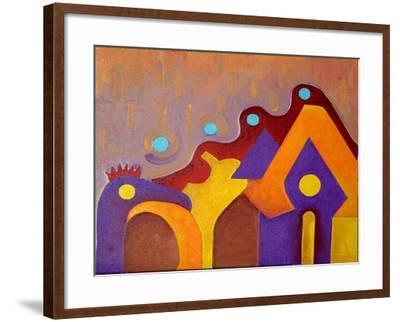 A Completely Unknown Animal Tries to Enter the House, 2009-Jan Groneberg-Framed Giclee Print