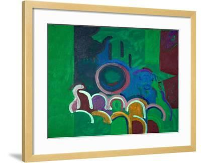 Silent Movie Waiting for the Piano-Player, 2009-Jan Groneberg-Framed Giclee Print