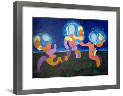 In the Warm Nights of June,The Troglodytes Celebrate Fire, 2009-Jan Groneberg-Framed Giclee Print