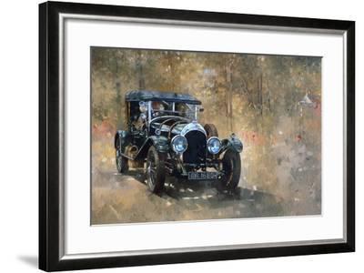 3 Litre Bentley at Cottesbrooke-Peter Miller-Framed Giclee Print