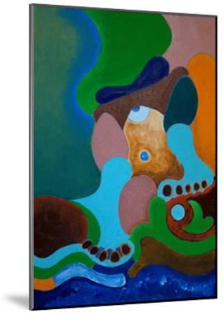 After a Heavy Beating, the Giant Washes His Wounds at the Well, 2009-Jan Groneberg-Mounted Giclee Print