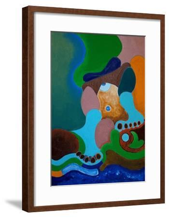 After a Heavy Beating, the Giant Washes His Wounds at the Well, 2009-Jan Groneberg-Framed Giclee Print