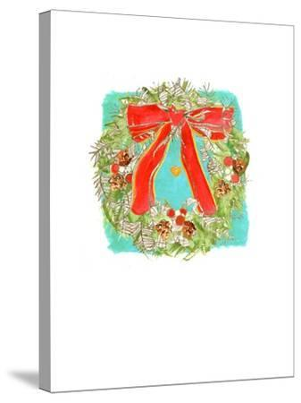 Christmas Wreath-Anna Platts-Stretched Canvas Print