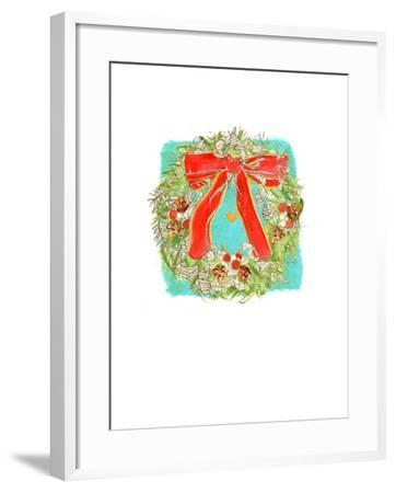 Christmas Wreath-Anna Platts-Framed Giclee Print
