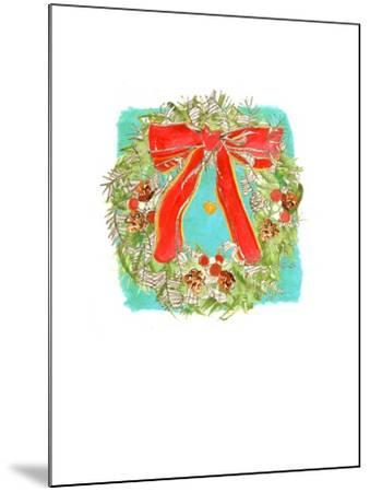 Christmas Wreath-Anna Platts-Mounted Giclee Print