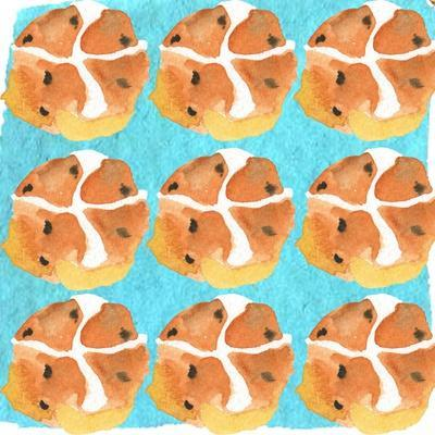 Hot Cross Buns-Anna Platts-Stretched Canvas Print
