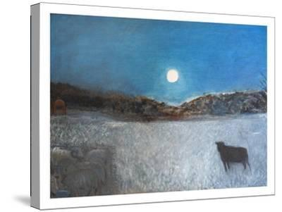 Sheep and Moon, 1997-Pamela Scott Wilkie-Stretched Canvas Print