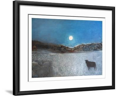 Sheep and Moon, 1997-Pamela Scott Wilkie-Framed Giclee Print