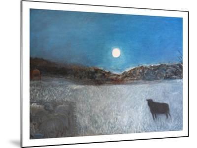 Sheep and Moon, 1997-Pamela Scott Wilkie-Mounted Giclee Print