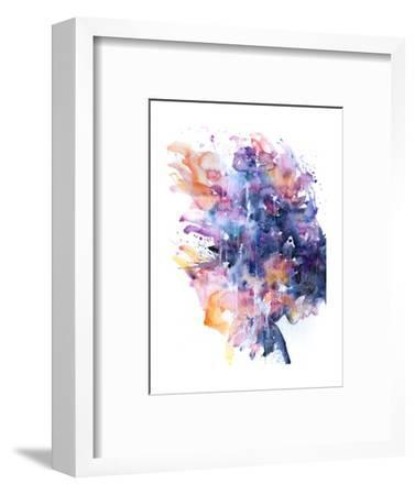 In A Single Moment All Her Greatness Collapsed-Agnes Cecile-Framed Premium Giclee Print