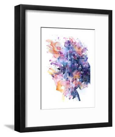 In A Single Moment All Her Greatness Collapsed-Agnes Cecile-Framed Art Print