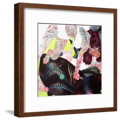 Your Battle With Nature-Shark Toof-Framed Art Print