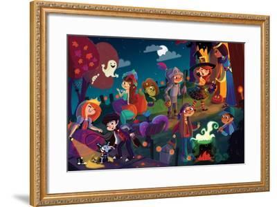 On Halloween Night - Jack & Jill-Tatevik Avakyan-Framed Giclee Print
