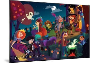 On Halloween Night - Jack & Jill-Tatevik Avakyan-Mounted Giclee Print