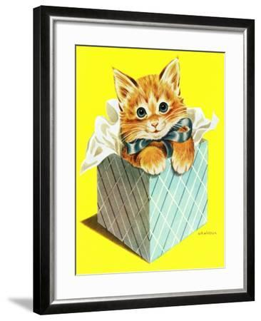 Wrapped in a Bow - Jack & Jill-Wilmer H. Wickham-Framed Giclee Print