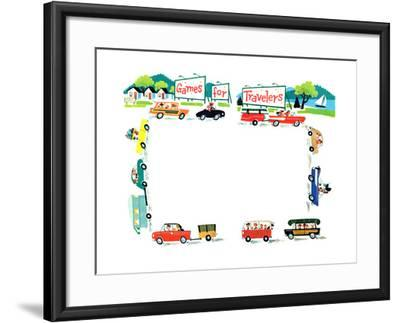 Games for Travelers - Jack & Jill-Helen Hamilton-Framed Giclee Print