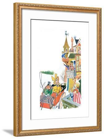 The Duchess Slides to Tea - Jack & Jill-Frank Dobias-Framed Giclee Print