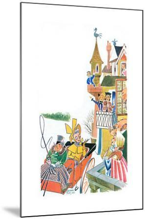 The Duchess Slides to Tea - Jack & Jill-Frank Dobias-Mounted Giclee Print