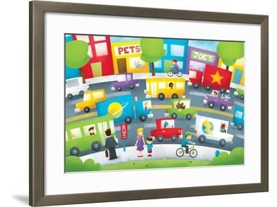 City Street - Turtle-Marcus Cutler-Framed Giclee Print