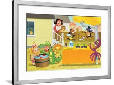 Beasty Feast - Turtle-Gary LaCoste-Framed Giclee Print