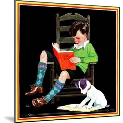 Book Report - Child Life-Keith Ward-Mounted Giclee Print