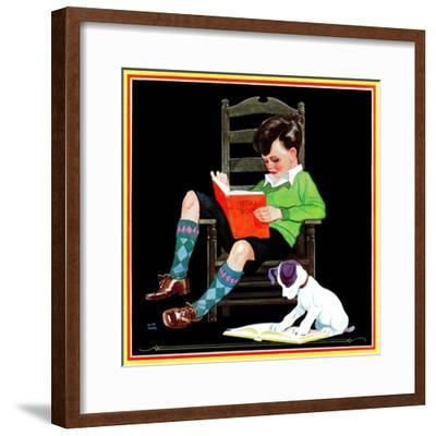 Book Report - Child Life-Keith Ward-Framed Giclee Print