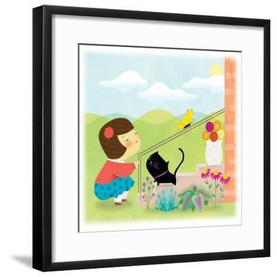 Kitten and Me - Humpty Dumpty-Sheree Boyd-Framed Giclee Print