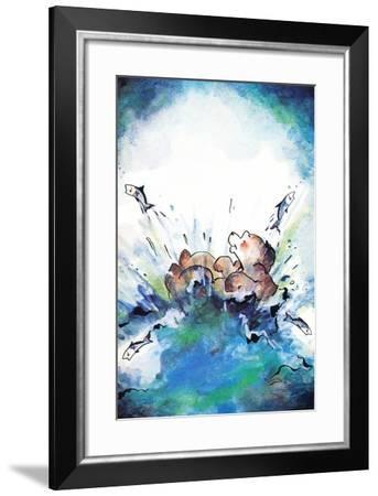 Splash Down - Jack & Jill-Edith Osborn Corbett-Framed Giclee Print