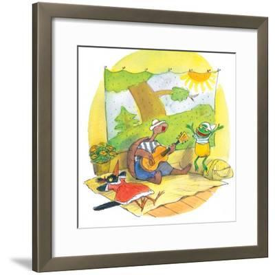 Ted, Ed and Caroll - the Picnic - Turtle-Valeri Gorbachev-Framed Giclee Print