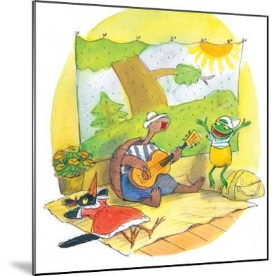 Ted, Ed and Caroll - the Picnic - Turtle-Valeri Gorbachev-Mounted Giclee Print
