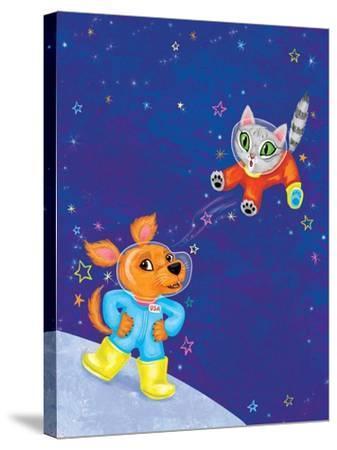 Mutt on the Moon - Jack & Jill-Elisa Chavarri-Stretched Canvas Print