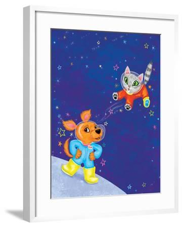 Mutt on the Moon - Jack & Jill-Elisa Chavarri-Framed Giclee Print