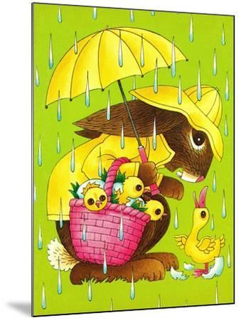 Rainy Easter - Playmate-Art Wallower-Mounted Giclee Print