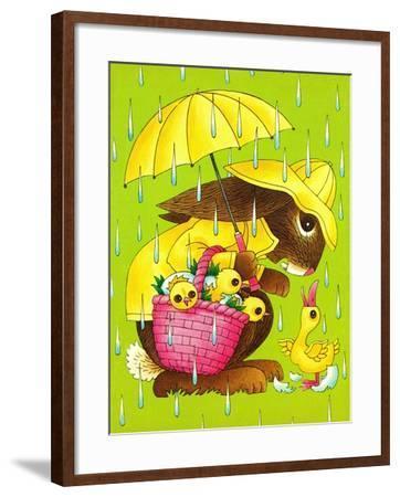 Rainy Easter - Playmate-Art Wallower-Framed Giclee Print