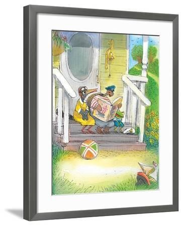The Adventures of Ted, Ed and Caroll - Turtle-Valeri Gorbachev-Framed Giclee Print